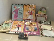 Lot of Assorted 7 Mary Engelbreit Writing Tablets/Note Pads & Teapot Stamp New