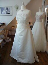 W. Neu! Sincerity Bridal Brautkleid 3117 Gr. 48 50 ivory rose Satin Spitze