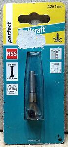 Wolfcraft Zinken- Fräser Schwalbenschwanzfräser HSS 13,3  Schaft 6mm  4261000