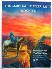 THE MARSHALL TUCKER BAND 1981 POSTER ADVERT DEDICATED