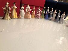 "Franklin Mint ""The Ladies Of Fashion� Set Of 12 Fine Porcelain 2� Miniatures"