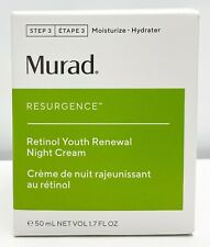 Murad Resurgence Retinol Youth Renewal Night Cream 1.7 fl oz / 50 mL New Box