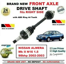 1x CV Joint Kit Nissan Almera 1.5 N16 ABS 02-06