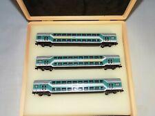 N Scale Fleischmann DB Double Decker 1st/2nd & 2nd Class - 3 Passenger Car Set