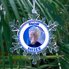 Cold Snow Miser Snowflake Colored Blinking Light Holiday Christmas Tree Ornament