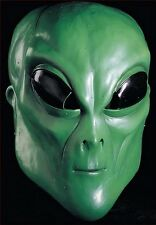Green Alien Latex Overhead Mask Outer Space Martian Halloween Costume Adult NEW