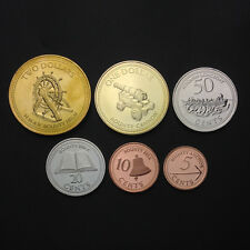 Pitcairn Islands Set 6 Coins, 5+10+20+50 cents +1+2 dollars, 2009-2010, Unc