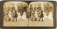 Estados Unidos El Maître De Baile De Francesa, Foto Estéreo Citrato 1901