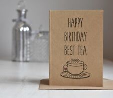 Best Friend / Bestie / Best Tea Birthday Card, Rustic Country Chic Style