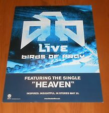 Live Birds of Prey Poster 2-Sided Flat Square 2003 Promo 12x16