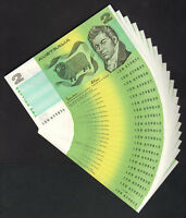 R-89. (1985) 2 Dollars - Johnston/Fraser.. CONSECUTIVE Run of 20 Notes..  UNC