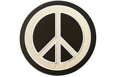 Reflective Embroidered Iron/Sew On Peace Sign Biker Motorcycle Patch (6x6 inch)