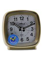 Atlanta Reisewecker Gold Geräuscharm Quartz Analog Wecker 1696 Neu Alarm Clock