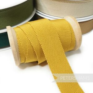 Cotton 25mm No.5 Millinery Petersham Hat Ribbon for Millinery and Hat Making 1m