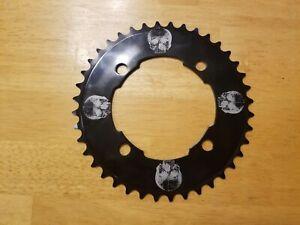 "104 BCD Aluminum Bike Chainring 40T Single Speed 3/32"" Skull Design DK BMX MTB"