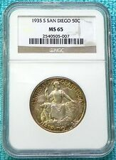 1935-S MS-65 California Pacific Internation Expo San Diego Silver 70,132 Minted