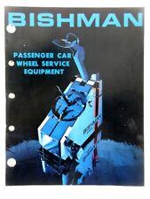 1978 Vintage BISHMAN - Wheel Service Equipment JOBBERS CATALOG AND SELL SHEET