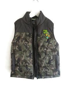 BNWOT Target Teenage Mutant Ninja Turtles Boy's Puffer Vest Camo Top Size 5