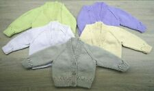 New Hand Knitted Baby Boy or Girl Cardigans - up to 3 months (14lbs)