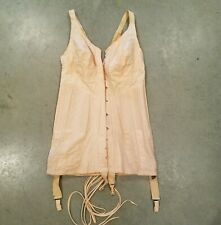 **Old Vintage Antique 1920's Pink RENGO BELT Womens CORSET Garters Hooks Laces!*