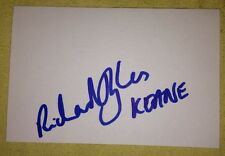 RICHARD HUGHES SIGNED 6X4 WHITE CARD ROCK MUSIC AUTOGRAPH KEANE 100% GENUINE