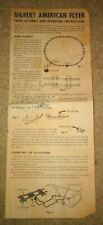 Original AMERICAN FLYER Train Assembly & Operating Instructions M4225