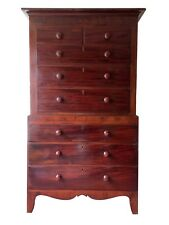 Huge Antique Early Victorian Chest on Chest Tallboy Chest Of Drawers Mahogany