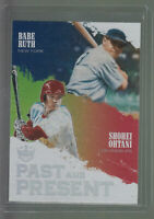 2018 DIAMOND KINGS PAST AND PRESENT #PP10 BABE RUTH / SHOHEI OHTANI RC ROOKIE A