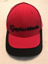 NEW TaylorMade Hat Adjustable Cap Red Black Jet Hat New With Tag