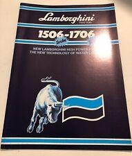 LAMBORGHINI Trattori 1506-1706 Tractors Original 1986 Sales Brochure