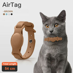 Anti-lost Device Cat And Dog Pet Collar Chain Leather Case