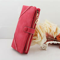 Women Fashion Leather Wallet Button Clutch Purse Lady Long Handbag Bag Top Class