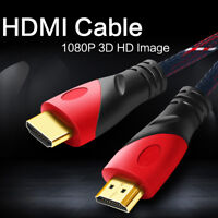 2019Premium Braid HDMI Cable Gold Plated AV Cord 3D 1080P For HDTV PS4 Projector