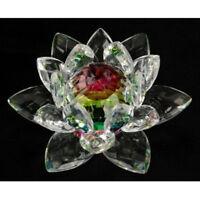3 inch Rainbow Crystal Lotus Flower Feng Shui Home Decor & Gift Box   USA Seller