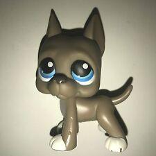 Littlest Pet Shop LPS #184 GREAT DANE BLUE EYES GREY/GRAY WHITE