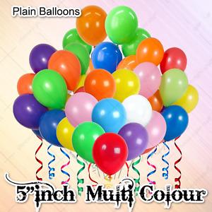 "10 X 50 5"" SMALL PLAIN LATEX BALLOONS RED BLACK PINK PARTY CELEBRATION BALOONSUK"