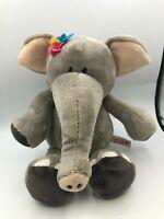 Nici Wild Friends Grey Elephant Flowers Plush Kids Soft Stuffed Toy Animal Doll