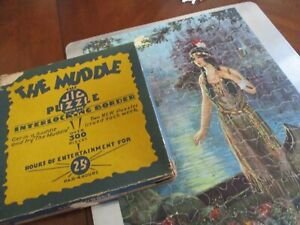 Vintage 300 piece jigsaw1930-40 puzzle Indian Maiden