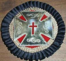 Early 1900s California Masonic Knights Templar Maltese Cross Hat Badge-STERLING