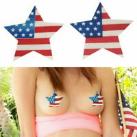 American Flag Disposable Star Nipple Cover Breast Bra Nipple Pad Patch PastiesSO