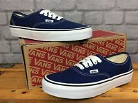 VANS LADIES UK 6 EU 39 AUTHENTIC OFF THE WALL BLUE WHITE CANVAS TRAINERS LG