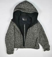 Bally Womens Vintage Thick Heavy Knit Hooded Jacket 12 Broken Zipper And Pilling