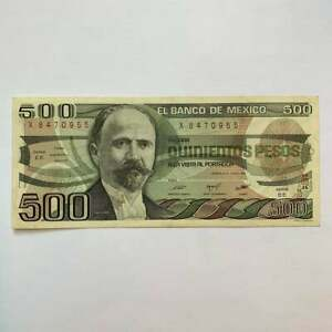 Mexican 500 Pesos Memorabilia Banknote, Madero, Aztec Sun Stone Foreign Currency