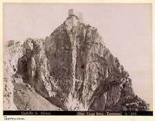 Giovanni Crupi S. Alessio Castle Taormina Sicily Large vintage photo 1890c XL100