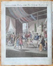 Bertuch Handcolored Print China Opera Theatre - 1790/