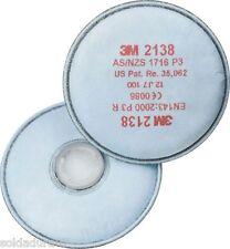 2 filtros 3M 2138 Filtro partícula P3R carbón activo mascaras serie 7500 6100