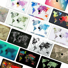 """Painted World Map Matte Rubberized Hard Case Cover For Macbook Air Pro 11""""13""""15"""""""