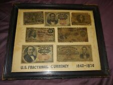 Us paper money fractional currency 7 piece lot dated 1862-1876
