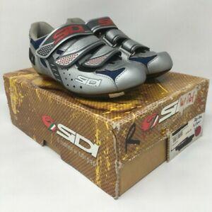 SIDI Zeta Women's Shoes 2-Bolt & 3-Bolt Cleat EU 36 Silver & Blue MSRP $190