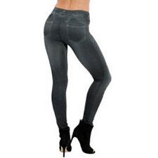 Women Denim Slim Jeans Leggings Leggings Sexy Printed Pocket Pencil Casual Pants